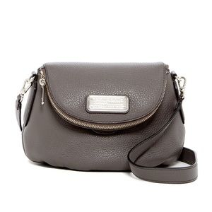 Marc Jacobs leather gray crossbody with duster